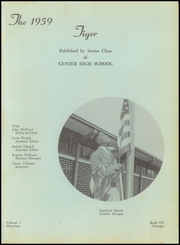 Page 5, 1959 Edition, Center High School - Tiger Yearbook (Waycross, GA) online yearbook collection