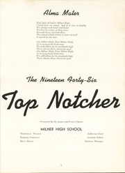 Page 7, 1946 Edition, Milner High School - Top Notcher Yearbook (Milner, GA) online yearbook collection