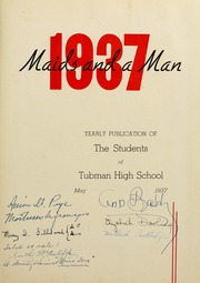 Page 7, 1937 Edition, Tubman High School - Maids and a Man Yearbook (Augusta, GA) online yearbook collection