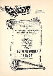 Page 5, 1956 Edition, James High School - Jamesonian Yearbook (Statesboro, GA) online yearbook collection