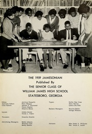 Page 5, 1959 Edition, James High School - Jamesonian Yearbook (Statesboro, GA) online yearbook collection