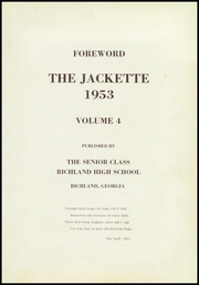 Page 5, 1953 Edition, Richland High School - Jackette Yearbook (Richland, GA) online yearbook collection