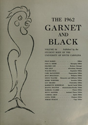 Page 7, 1962 Edition, University of South Carolina Columbia - Garnet and Black Yearbook (Columbia, SC) online yearbook collection