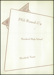 Page 5, 1955 Edition, Hereford High School - Round Up Yearbook (Hereford, TX) online yearbook collection