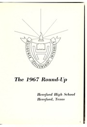 Page 5, 1967 Edition, Hereford High School - Round Up Yearbook (Hereford, TX) online yearbook collection