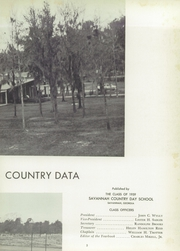 Page 7, 1959 Edition, Savannah Country Day School - Country Data Yearbook (Savannah, GA) online yearbook collection