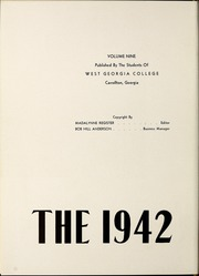 Page 6, 1942 Edition, University of West Georgia - Chieftain Yearbook (Carrollton, GA) online yearbook collection
