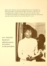 Page 16, 1974 Edition, Savannah State University - Tiger Yearbook (Savannah, GA) online yearbook collection