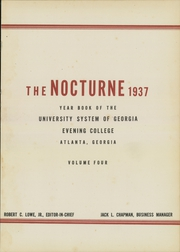 Page 5, 1937 Edition, University System of Georgia Evening School - Nocturne Yearbook (Atlanta, GA) online yearbook collection
