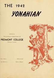 Page 5, 1942 Edition, Piedmont College - Yonahian Yearbook (Demorest, GA) online yearbook collection
