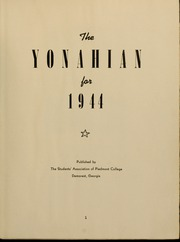 Page 5, 1944 Edition, Piedmont College - Yonahian Yearbook (Demorest, GA) online yearbook collection