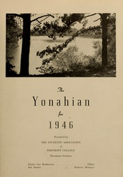 Page 7, 1946 Edition, Piedmont College - Yonahian Yearbook (Demorest, GA) online yearbook collection