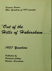 Page 6, 1957 Edition, Piedmont College - Yonahian Yearbook (Demorest, GA) online yearbook collection