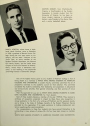 Page 17, 1960 Edition, Piedmont College - Yonahian Yearbook (Demorest, GA) online yearbook collection