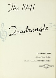 Page 6, 1941 Edition, LaGrange College - Quadrangle Yearbook (Lagrange, GA) online yearbook collection
