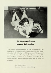 Page 10, 1947 Edition, LaGrange College - Quadrangle Yearbook (Lagrange, GA) online yearbook collection
