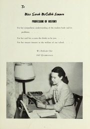 Page 11, 1947 Edition, LaGrange College - Quadrangle Yearbook (Lagrange, GA) online yearbook collection