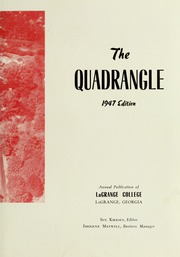 Page 9, 1947 Edition, LaGrange College - Quadrangle Yearbook (Lagrange, GA) online yearbook collection