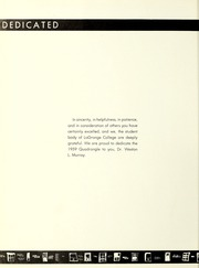 Page 8, 1959 Edition, LaGrange College - Quadrangle Yearbook (Lagrange, GA) online yearbook collection
