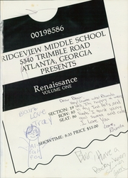 Page 5, 1986 Edition, Ridgeview Middle School - Renaissance Yearbook (Atlanta, GA) online yearbook collection