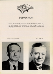 Page 5, 1958 Edition, John Marshall Law School - Vox Juris Yearbook (Atlanta, GA) online yearbook collection