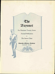 Page 11, 1927 Edition, Riverside Military Academy - Bayonet Yearbook (Gainesville, GA) online yearbook collection