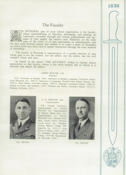 Page 17, 1930 Edition, Riverside Military Academy - Bayonet Yearbook (Gainesville, GA) online yearbook collection
