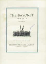 Page 5, 1930 Edition, Riverside Military Academy - Bayonet Yearbook (Gainesville, GA) online yearbook collection