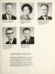 Page 17, 1962 Edition, Covenant College - Tartan Yearbook (Lookout Mountain, GA) online yearbook collection