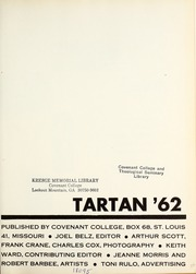 Page 5, 1962 Edition, Covenant College - Tartan Yearbook (Lookout Mountain, GA) online yearbook collection