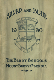Page 1, 1930 Edition, Berry High School - Torch Yearbook (Mount Berry, GA) online yearbook collection