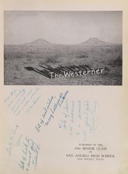 Page 7, 1941 Edition, San Angelo Central High School - Westerner Yearbook (San Angelo, TX) online yearbook collection