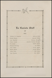Page 15, 1921 Edition, Corpus Christi High School - Duffle Bag Yearbook (Corpus Christi, TX) online yearbook collection