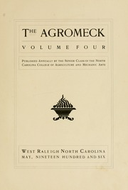 Page 11, 1906 Edition, North Carolina State University - Agromeck Yearbook (Raleigh, NC) online yearbook collection