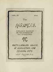 Page 9, 1914 Edition, North Carolina State University - Agromeck Yearbook (Raleigh, NC) online yearbook collection