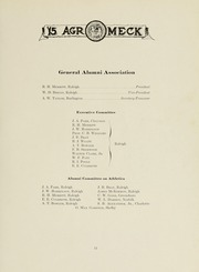 Page 17, 1915 Edition, North Carolina State University - Agromeck Yearbook (Raleigh, NC) online yearbook collection
