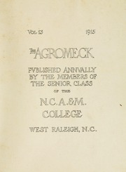 Page 7, 1915 Edition, North Carolina State University - Agromeck Yearbook (Raleigh, NC) online yearbook collection