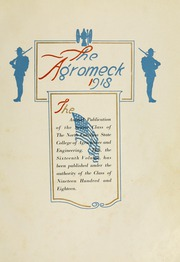 Page 9, 1918 Edition, North Carolina State University - Agromeck Yearbook (Raleigh, NC) online yearbook collection