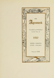 Page 9, 1920 Edition, North Carolina State University - Agromeck Yearbook (Raleigh, NC) online yearbook collection