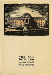 Page 5, 1926 Edition, Southern Methodist University - Rotunda Yearbook (University Park, TX) online yearbook collection