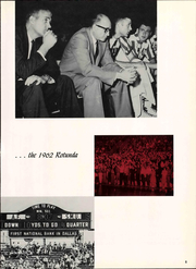 Page 11, 1962 Edition, Southern Methodist University - Rotunda Yearbook (University Park, TX) online yearbook collection