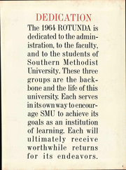 Page 9, 1964 Edition, Southern Methodist University - Rotunda Yearbook (University Park, TX) online yearbook collection