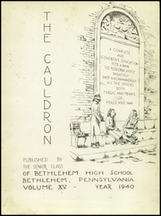 Page 7, 1940 Edition, Liberty High School - Cauldron Yearbook (Bethlehem, PA) online yearbook collection
