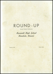 Page 5, 1955 Edition, Roosevelt High School - Round Up Yearbook (Honolulu, HI) online yearbook collection