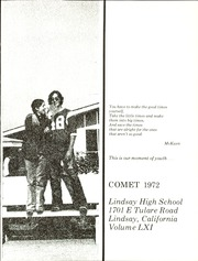 Page 5, 1972 Edition, Lindsay High School - Comet Yearbook (Lindsay, CA) online yearbook collection