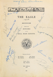Page 5, 1928 Edition, Bell High School - Eagle Yearbook (Bell, CA) online yearbook collection