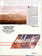 Page 5, 1988 Edition, Laguna Hills High School - Aerie Yearbook (Laguna Hills, CA) online yearbook collection