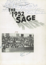 Page 7, 1952 Edition, Nampa High School - Sage Yearbook (Nampa, ID) online yearbook collection
