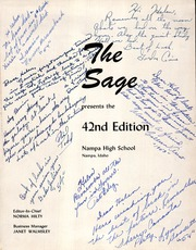 Page 3, 1953 Edition, Nampa High School - Sage Yearbook (Nampa, ID) online yearbook collection