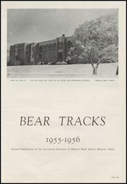 Page 5, 1956 Edition, Moscow High School - Bear Tracks Yearbook (Moscow, ID) online yearbook collection